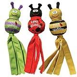 KONG (コング) Wubba ウーバ スクイーカー入り 丈夫で 音の出る おもちゃ (バグ) アソートカラー (Sサイズ (22cm), アソート)