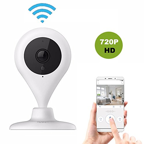 360 Wireless WiFi Smart Network Camera Home Security Surveillance System Detector Video Cameras IP Webcam Live Cams, HD 720P IR Night Vision Easy Remote Access for Baby Elder Pet Nanny Monitor