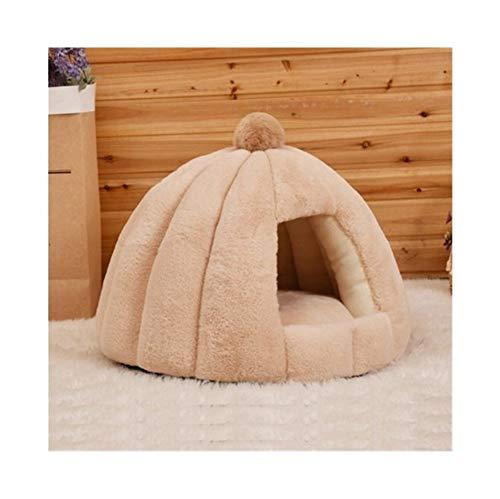YSJ LTD huisdier-katten-kave tent huis kennel winter warm dog nest opvouwbare slaapstoel mat puppy mand, kleine hond kat bed kaki