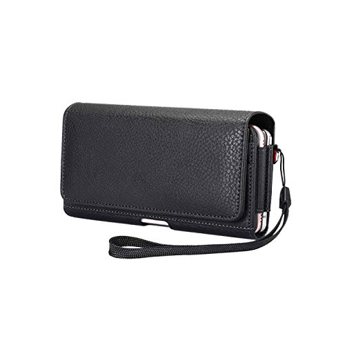 SZCINSEN Funda universal para cinturón de piel para iPhone 11 Pro Max, para iPhone Xs/X, Wallt Belt Clip Phone Holster para iPhone Xs Max / 8p / 7p / 6p, Samsung S20/S10+ / S9+ / S8+