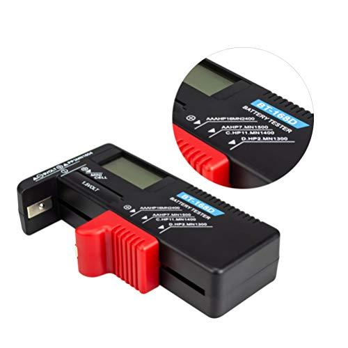 Hemobllo - Comprobador de pilas universal portátil Comprobador de batería digital de 5 V 9 V para pilas Aa C D 9 V 1. Pilas de 5 V