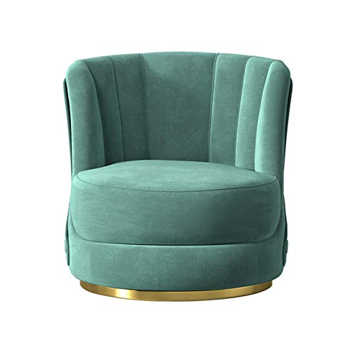 Sofá Individual De Franela, Cojín De Alto Rebote Y Silla con Respaldo Alto, Adecuado para Dormitorio Y Sala De Estar Verde 0416S(Color:Verde)