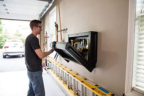 STANLEY Mesa de trabajo metálica y plegable FATMAX para fijación en la pared FMHT81528-1, (B x H x T) 45 x 20 x 90 cm