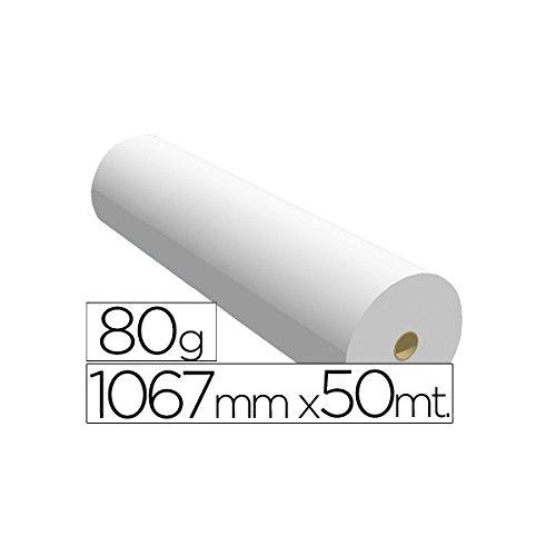 1067X50 80   Papel reprografía para plotter, 1067 mm x 50 m