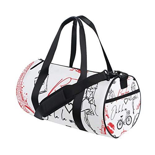 ZOMOY Sporttasche,Art und Weisemuster ursprüngliche kalligraphische Güsse,Neue Druckzylinder Sporttasche Fitness Taschen Reisetasche Gepäck Leinwand Handtasche