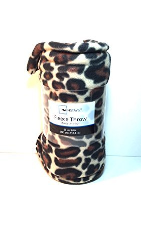 Mainstay Cheetah Fleece Throw