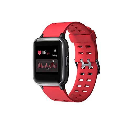 HJL Intelligente Orologio per Donna Android Uomini telefoni compatibili iPhone IP68 Impermeabile Orologio Sportivo Fitness Tracker cardiofrequenzimetro Orologio Digitale,Rosso