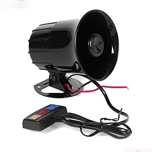 DishyKooker Haut-Parleur de Voiture 110db 12V Allarme Auto Moto 3 Tons sirène Haut-Parleur klaxon de Voiture Sirene Policia Moto Ambulance Alarme de Voiture Haut-parleurs sonores autoaccessory