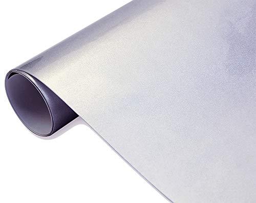 8€/m² Auto Folie - Hochglanz metallic silber 30 x 150 cm BLASENFREI Car Wrapping Klebefolie glänzend