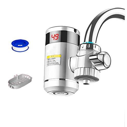 Grifo de Agua Caliente eléctrico de instalación Gratuita Tipo de conexión Grifo de Agua de Calentamiento instantáneo con Pantalla Digital LED (Grifo aplicable al 90%), Purificación de Agua,