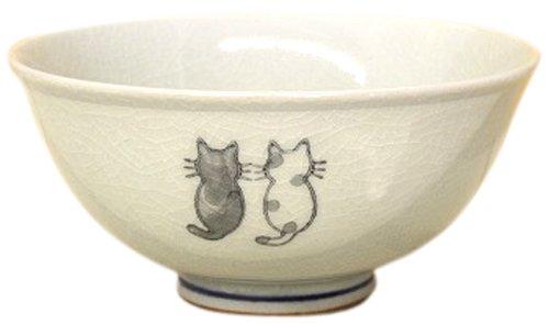 松本陶器 にゃんこ 飯碗(大) 11539