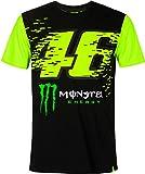 Valentino Rossi Camiseta Monster Energy 46,L,Negro,Hombre
