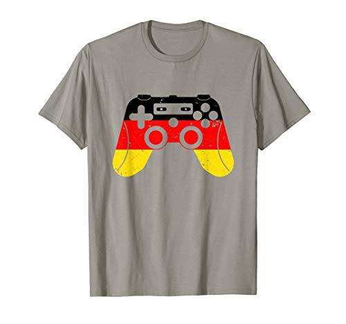 Vintage Gamecontroller Gamer in Deutschland   Gaming T-Shirt