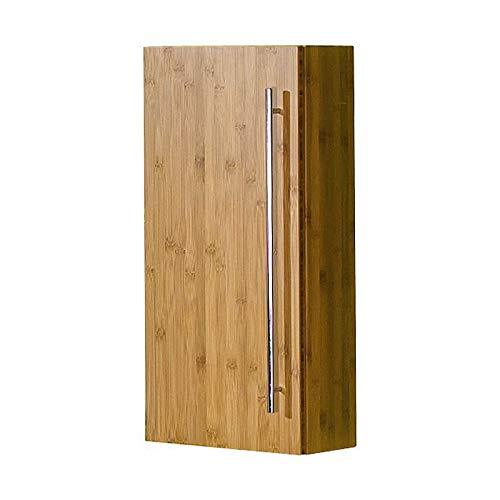 Lomadox Badezimmer Hängeschrank Bambus massiv klar lackiert