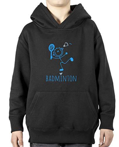 Comedy Shirts Sweat à capuche pour garçon Motif cœur de badminton - Noir - 110