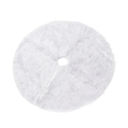 OULII Gonna per Albero di Natale Tappeto Albero Natale per Decorazione in Bianco con Diametro di 78 cm