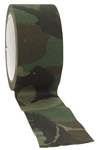 BANDE TISSU ADHESIF CAMO CAMOUFLAGE WOODLAND 5 CM X 10 M MILTEC 15934020 PROTECTION AIRSOFT