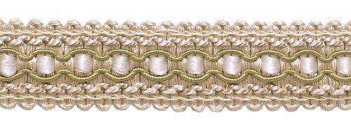 DecoPro 8 metre Value Pack d'ivoire, Beige clair 2.5 cm Imperial II Gimp Tresse Style # 0125ig Couleur Blanc Sands – 4001 (8,2 m)