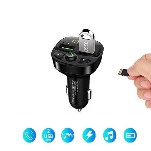 Transmisor FM Bluetooth para automóvil, con Llamadas Manos Libres