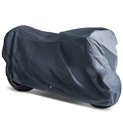 OxGord Executive Storm-Proof Motorcycle Cover - Water Resistant 7 Layers - Ready-Fit / Semi Custom - Fits up to 111 Inches