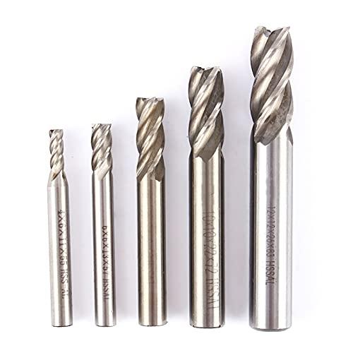 kengbi Molinos de Hilos Equipo de Ejercicio para Uso en e 4 mm 12 mm 8 mm 10 mm 6 mm HSS CNC Cutter Straut Fresing Cutter Shank 4 Flauta End bit bit para Elegir (Cutting Edge Diameter : 4mm)