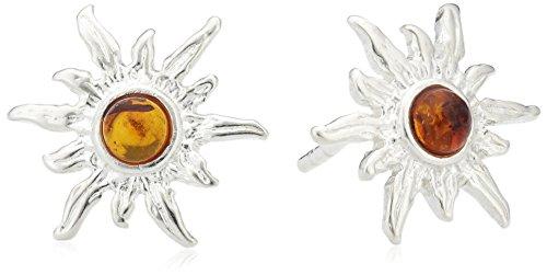 InCollections 0010260010890 - Orecchini a lobo da donna con ambra, argento sterling 925