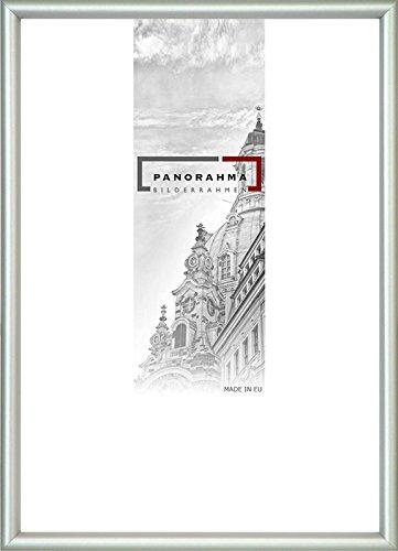 Kunststoff Bilderrahmen, Bildformat: 42 x 59,4 cm (DIN A2), Silber, Echtglas
