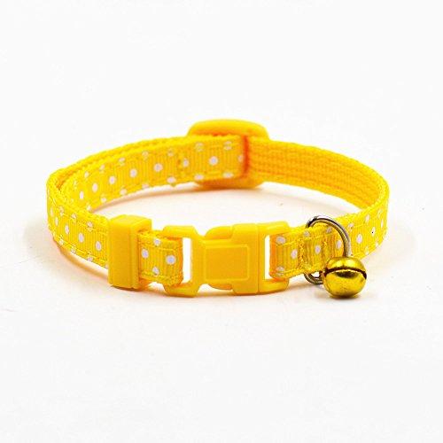 Nylon-Halsband mit Polka-Dot-Muster und Glocke, für Hunde und Katzen