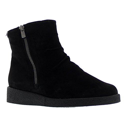 Mephisto Womens Cassandra Black Suede Boots 38 EU
