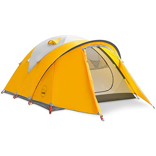KAZOO Waterproof Camping Tent 4 Person Family Backpacking Tents 4 People Lightweight Hiking Tents 4 Man Aluminum Frame Double Layer