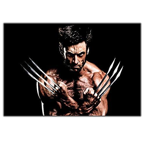 RUIYAN Leinwandbilder Wandkunst Bild Hugh Jackman Wolverine Poster PrintCanvas Bilder Ohne Rahmen 40 * 60 cm