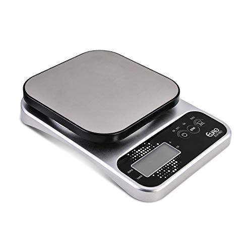 Balança Digital Pró para Cozinha, 5kg, Prata, Euro