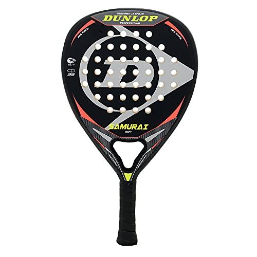 Pala de Padel Dunlop Samurai Soft + Overgrip Incluido   Mejores Palas polivalente para Hombre Mujer Niño y Junior   Alto Control y Potencia en Cada golpeo de Pelotas