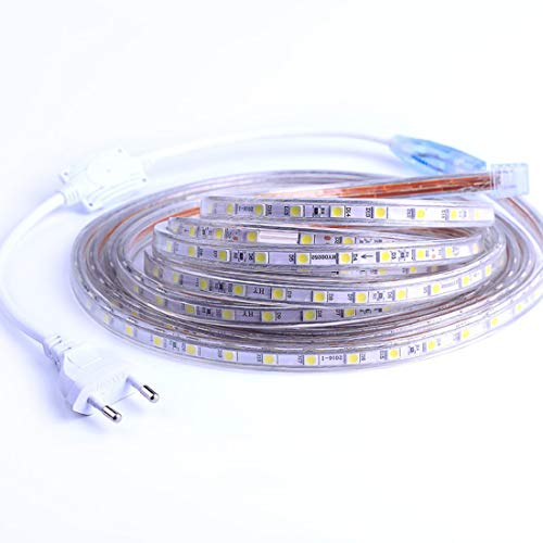 Ruban à LED, Bande LED, Lumineux Bandeau Led 220v, 5050 IP65 Etanche Bande Strip Led, Blanc Froid (3m)