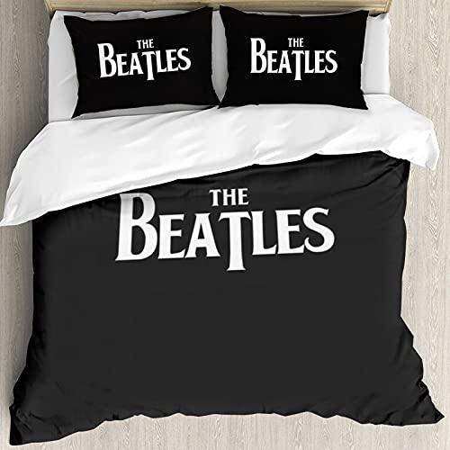 Juego de ropa de cama 3D estampado The Beatles juego de funda de edredón unisex de microfibra suave 3 piezas 1 edredón y 2 fundas de almohada