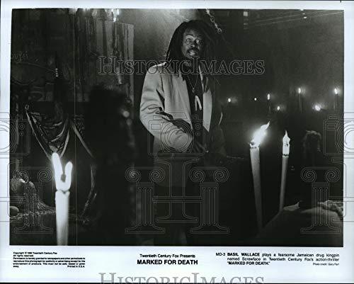 Historic Images 1990 Press Photo Basil Wallace Juega con Rosca, Droga Kingpin, Marcado por la Muerte