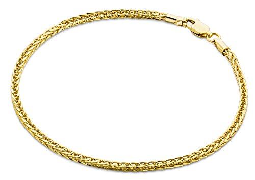 Miore Armband - Armreif Damen Gelbgold 9 Karat / 375 Gold Weizen Kette 19.5 cm