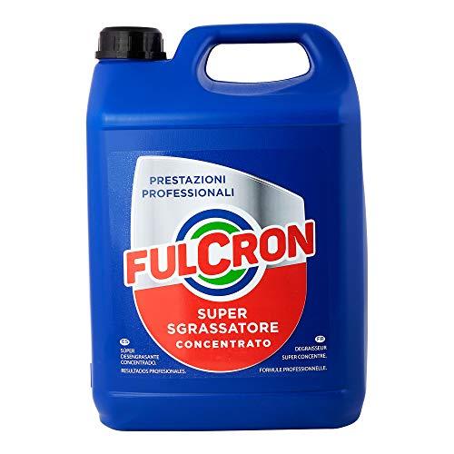 Fulcron 5L, sgrassatore detergente concentrato per sporco ostinato, pulizia motori, casa, nautica,...
