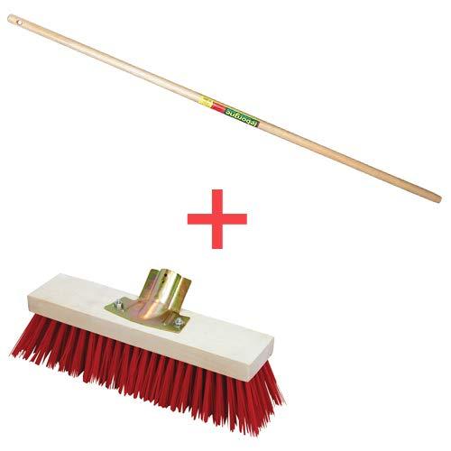 balai cantonnier monture bois douille fer avec manche cantonnier 1.40m (taille au choix) (60 cm)