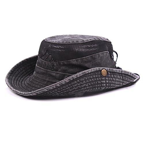 Charmylo Para Mujer para Hombre Sombrero para el Sol de Algodón de ala Ancha Bucket Hat Safari Boonie Hat Verano Protección UV Plegable Pesca Hat