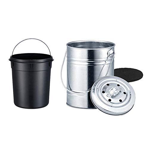 Komposteimer Küche 3L Bio-Mülleimer Arbeitsplatte Kohlefilter Mülleimer Aufbewahrung Eimer mit Deckel