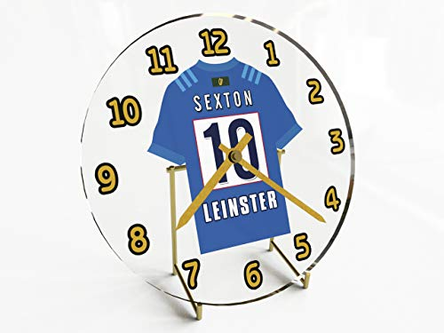 MyShirt123 Guinness Pro 12Schreibtischuhren mitRugby-Union-Jersey-Design, personalisierbar, damen, Leinster Rugby
