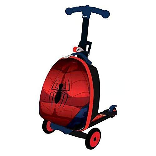 Hokaime Cartoon Child Scooter Suitcase Pequeño Regalo Cute Carry on Trolley Equipaje Bolsa para...