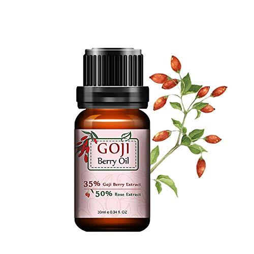 Beito Aceite Esencial Natural 1Bottle Goji Berry Serum Cara Aceite Esencial Antiedad Esencia Goji Ingredient Crema Hidratante para la Piel Aceite Curativo y Reparador (10ml / 0.35fl.oz)