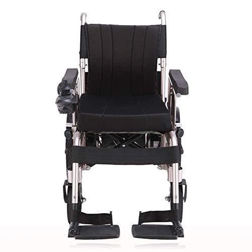 MJY Rollstuhl Faltbare Elektro-Rollstühle, Doppel Elektro-Rollstuhl, Vollautomatische Klapp Tragbare Vierrädrigen Ältere Roller Mit Sitz Rollstuhl, Gold-Xs