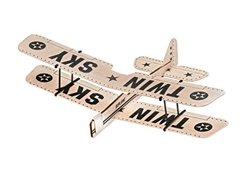 Revell 24314 BalsaBirds Twin Sky Fluggleiter aus Balsaholz zum Basteln und Spielen, Holz