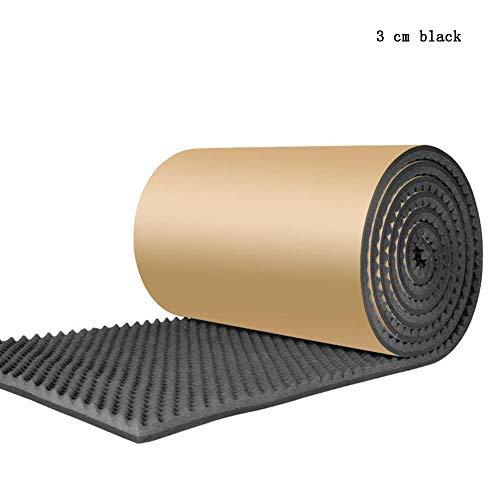 QIDI-Schallabsorbierende Baumwolle Akustisches Zimmer Behandlung Schalldämmschaum Baumwolle, High Density Foam Schallschutz Baumwollstreifen for KTV Audio Studio Room (Color : C2 Black 3cm)