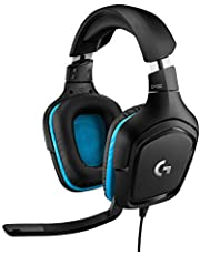 Logitech G432 Auriculares Gaming con Cable, Sonido 7.1 Surround, DTS Headphone:X 2.0, Transductores 50mm, USB y Jack Audio 3, 5mm, Microfóno Volteable, Peso Ligero, PC/Mac/Xbox One/PS4/Nintendo Switch