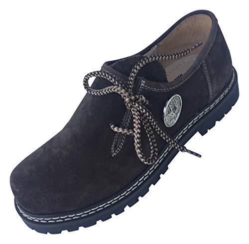 By Johanna Herren-Schnürschuhe Haferl-Schuhe.Wertige Rahmengenähte Echt-Leder-Schuhe unterstreicht das Outfit für Freizeit Trachten Jeans Anzug Lederhose oder Hochzeit perfekt.Haferl Schwarz 43