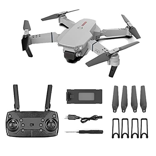 SWETIY Drone Professionale, WiFi Video Diretta FPV Droni Telecomandati per Principianti, GPS con Telecamera 4K HD, One Key Return Track,No Camera Gray,1 Battery